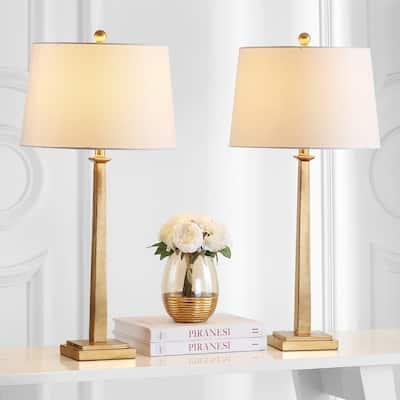 SAFAVIEH Lighting Andino Gold 32-inch Table Lamp (Set of 2)