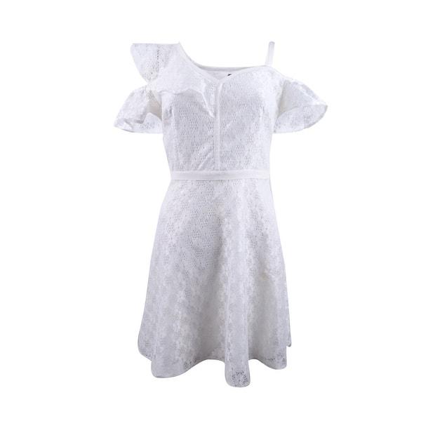 Guess Women/'s Laser-Cut Fit /& Flare Slip Dress