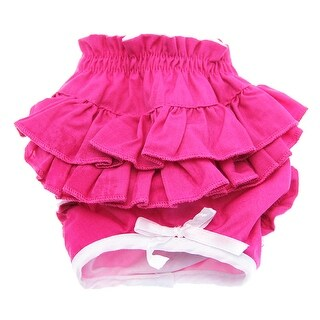 Hot Pink Ruffled Dog Panties by Doggie Design - Large