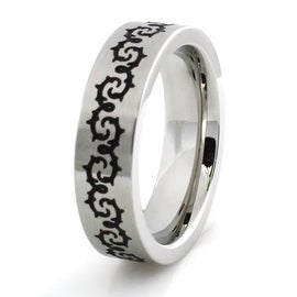 Stainless Steel Ring w/ Barbed Wire Design