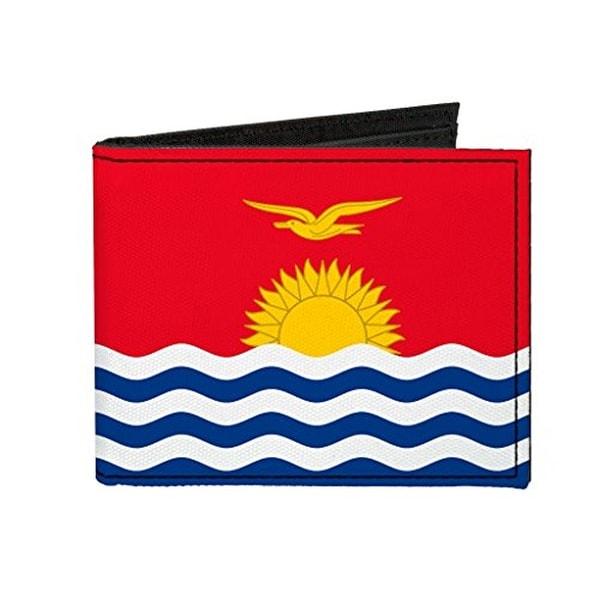 Buckle-Down Canvas Bi-fold Wallet - Kiribati Flag Accessory