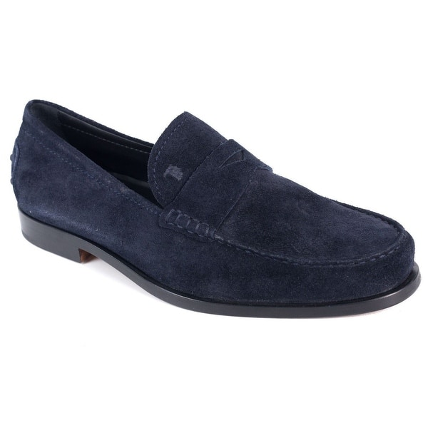 3d4ed20ac Shop Tods Mens Navy Blue Boston Suede Penny Loafers - Free Shipping ...