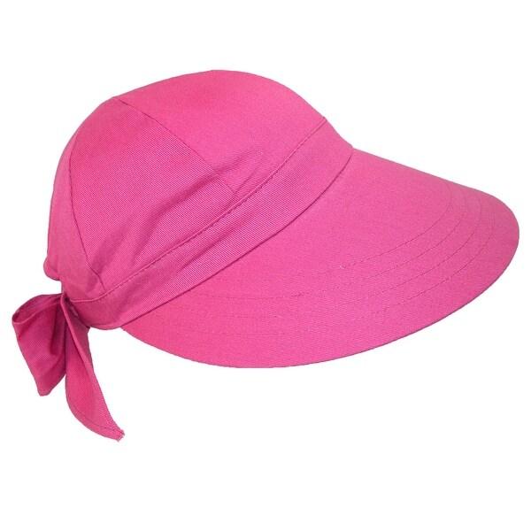 CTM® Women's Cotton Wide Brim Facesaver Sun Visor Hat