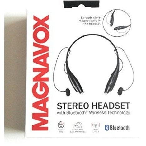 7a9fc749a03 Shop Magnavox Mbh513 Bt Neckband Earphones Mic Black - Free Shipping On  Orders Over $45 - Overstock - 20268427