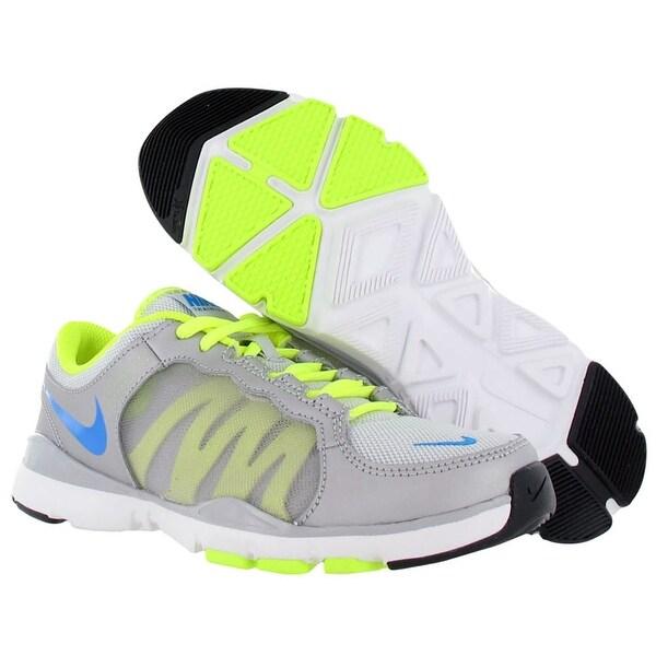Nike Flex Trainer 2 Womens Shoes Gray/neon/blue Size