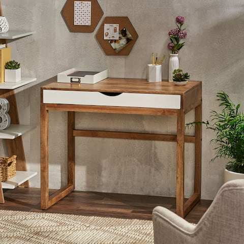 Ricketson Indoor Mango Wood Handcrafted Desk with Storage by Christopher Knight Home