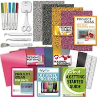 Cricut Tools Bundle-Vinyl Pack, Basic Tools & Cricut Explore Pens, Guide