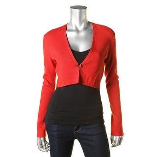 BOSS Hugo Boss Womens Filirona Hook Front Cropped Cardigan Sweater - S