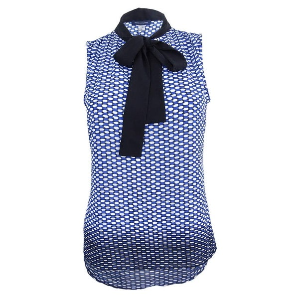 a8efa9031 Shop Tommy Hilfiger Women's Dot Contrast Tie Top - Cobalt/Black - On Sale - Free  Shipping On Orders Over $45 - Overstock.com - 20497805