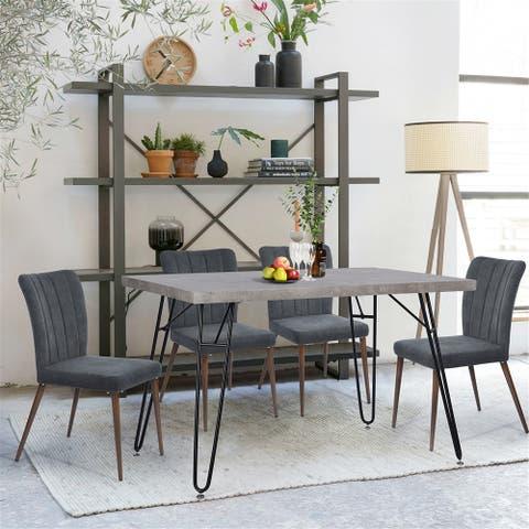 Carbon Loft Searz Modern Cement Grey Dining Table