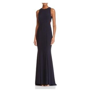 Link to AQUA Womens Navy Sleeveless Full Length Mermaid Prom Dress  Size 0 Similar Items in Dresses