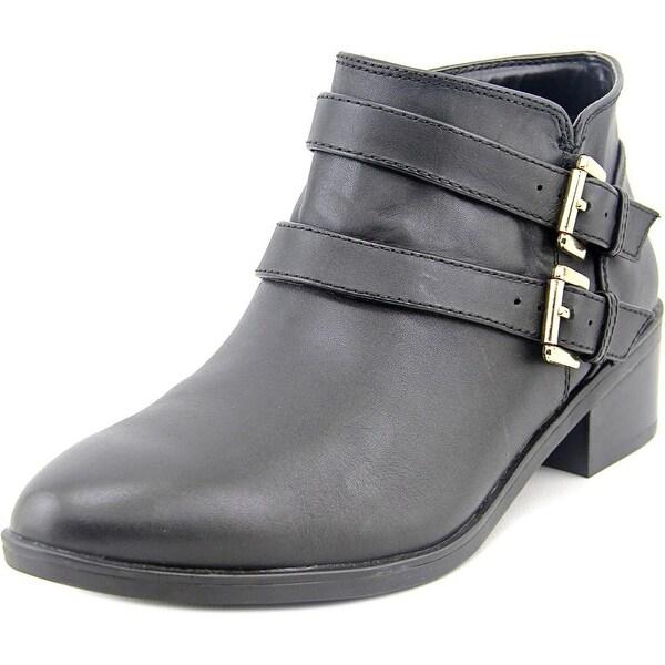 Bella Vita Frankie Women Round Toe Leather Black Bootie
