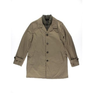 Tommy Hilfiger Mens Lined Outerwear Trench Coat - L
