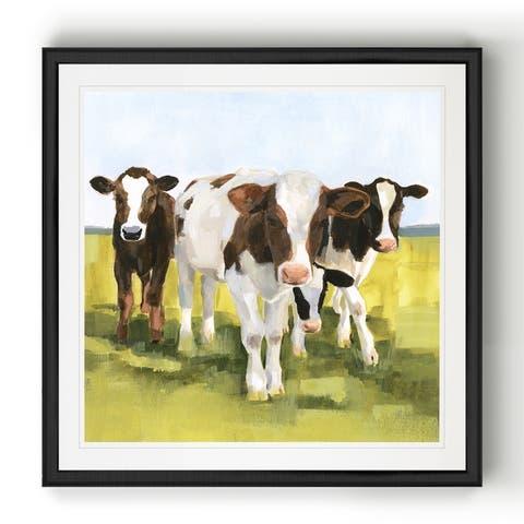 Grazers II -Black Framed Print