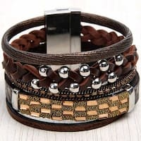 Mad Style Gold Multi Band Wide Bracelet
