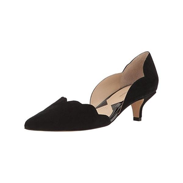 Adrienne Vittadini Womens Serene D'Orsay Heels Scalloped Pointed Toe