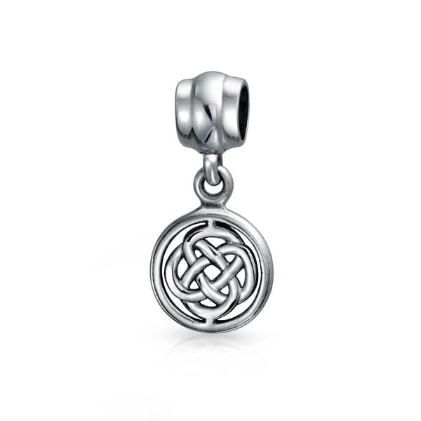 43a6adaae Shop Round Celtic Knot Dangle Bead Charm .925 Sterling Silver - On Sale -  Free Shipping On Orders Over $45 - Overstock - 17985902