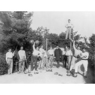 Gymnastic Exercises in Istanbul - Vintage Photograph (Keepsake Tin)