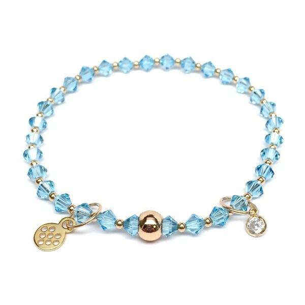 "Light Blue Crystal Emily 7"" Bracelet"