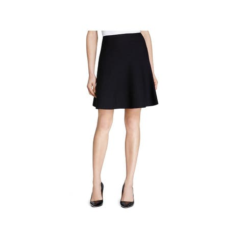 Theory Womens Lotamee Knit Skirt Wool A-Line
