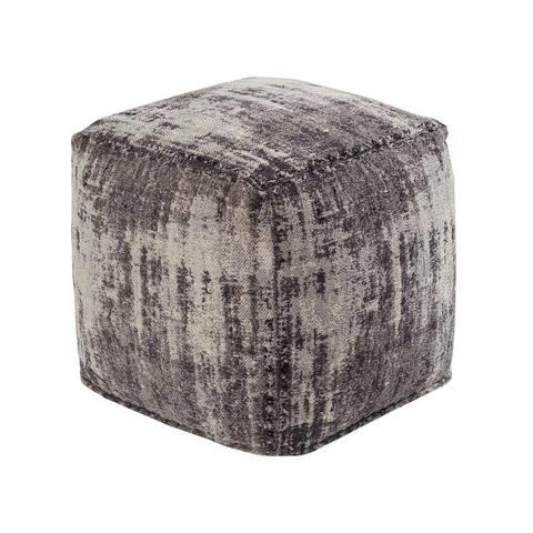 Chenille Cotton Jacquard Pouf
