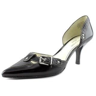 Anne Klein Oceana Pointed Toe Leather Heels