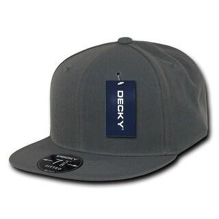 Kids Plain 6-panel Curve Bill Constructed Mid Crown Baseball Hat Snapback Cap - Black