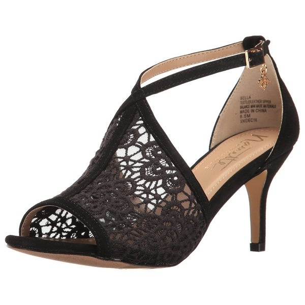 Nanette Lepore Womens Bella Leather Open Toe Ankle Strap D-orsay Pumps