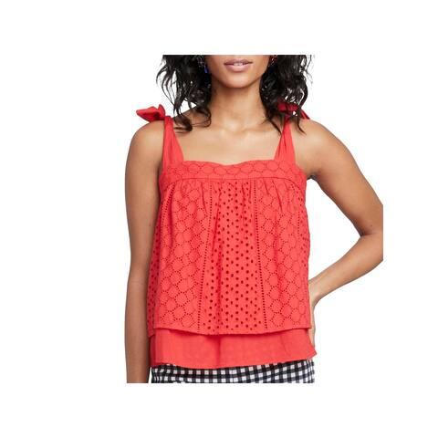 Rachel Rachel Roy Womens Pullover Top Woven Sleeveless