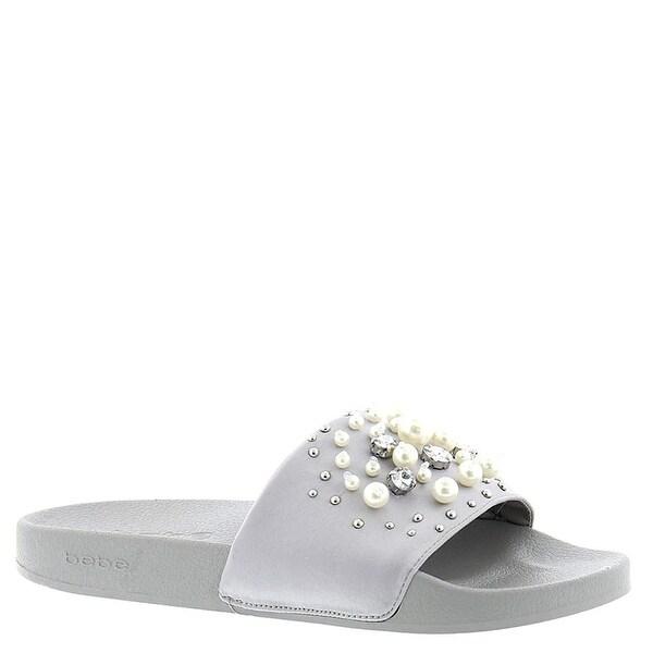 bebe Fenix Womens Persal Slide Sandals, Silver, Size 7.0 - 7