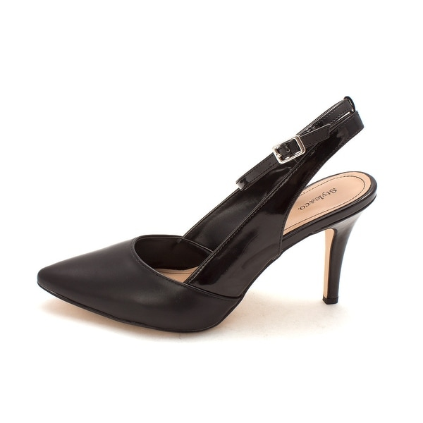 Style & Co. Womens GEOGETTE Pointed Toe Ankle Strap Classic Pumps - 10