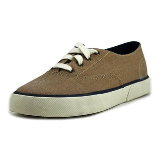 Sperry Top Sider Pier Edge Women Round Toe Canvas Tan Sneakers
