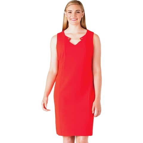 Calvin Klein Women's Dress, Red, 8
