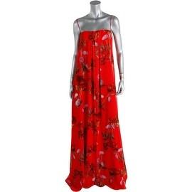ERIN Erin Fetherston Womens Chiffon Floral Print Maxi Dress - 4