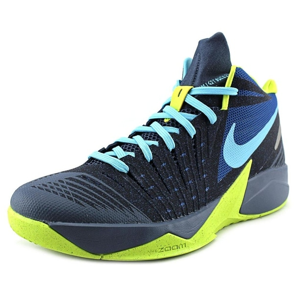 Nike Zoom I Get Buckets Men Round Toe Synthetic Blue Basketball Shoe