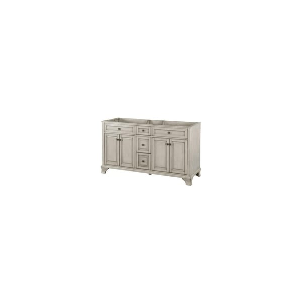 Foremost Cna6022d Corsicana 62 Double Free Standing Wood Vanity Cabinet Only Less Top Shipping Today 20618396