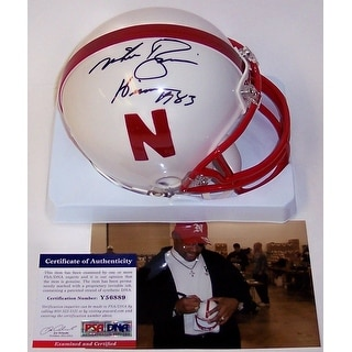 Mike Rozier Autographed Hand Signed Nebraska Cornhuskers Mini Helmet PSADNA