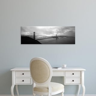 Easy Art Prints Panoramic Image 'Bridge across sea, Golden Gate Bridge, San Francisco, California' Canvas Art