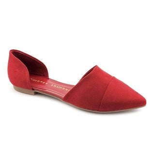 Chinese Laundry Easy Does It Women Pointed Toe Synthetic Red Flats