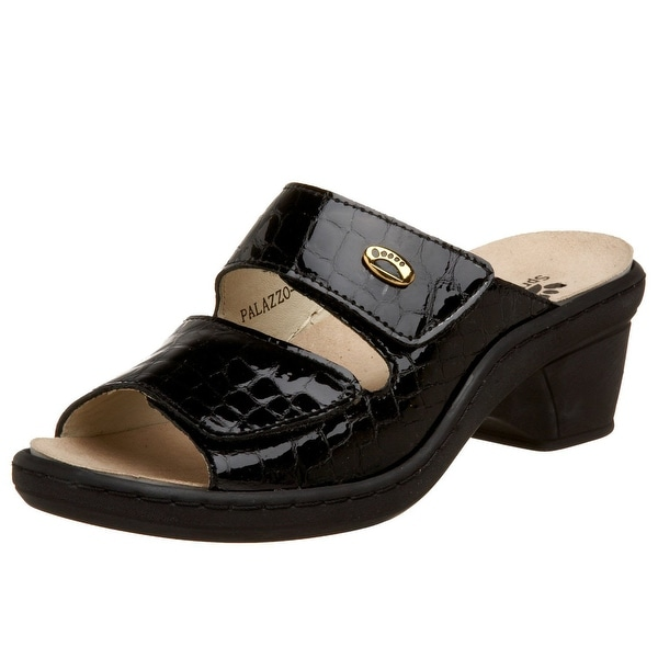 Spring Step Women's Palazzo Sandal - black crocco
