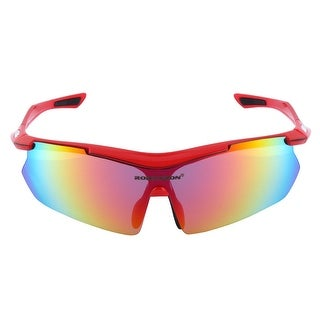 ROBESBON Authorized Unisex Riding Polarized Goggles Lens Cycling Glasses Red