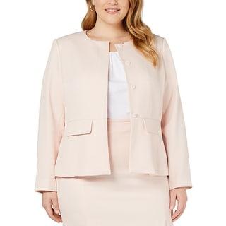 Link to Calvin Klein Women's Blazer Pastel Pink Size 20W Plus Textured Peplum Similar Items in Women's Outerwear