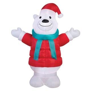 Gemmy 39159 Airblown Christmas Inflatable Polar Bear, Multicolored, Fabric