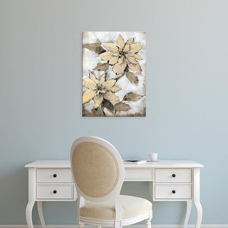 Easy Art Prints Tim OToole's 'Poinsettia Study I' Premium Canvas Art