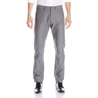 Calvin Klein CK Pindot Textured Casual Pants Battleship Grey 33 x 30