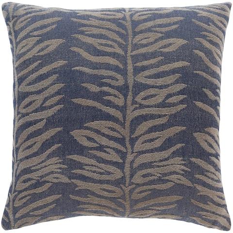 Mauro Jacquard Fern Cotton Throw Pillow