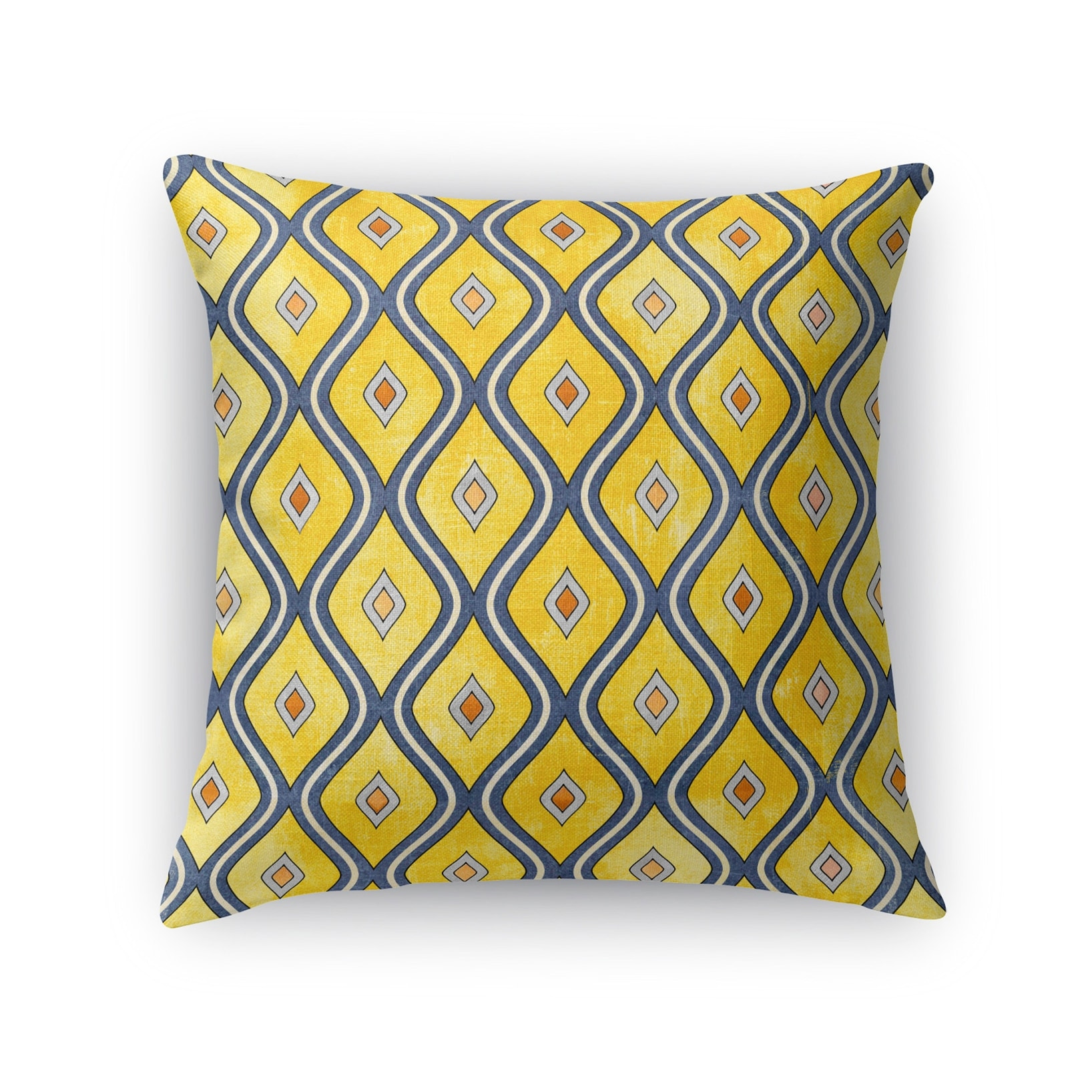 Kavka Designs Yellow Blue Verona Accent Pillow With Insert Overstock 16937418