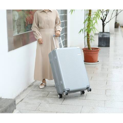 """MKF Collection Tulum 26.5"""" Extra Large Check-in Spinner with TSA Security Lock by Mia K."""