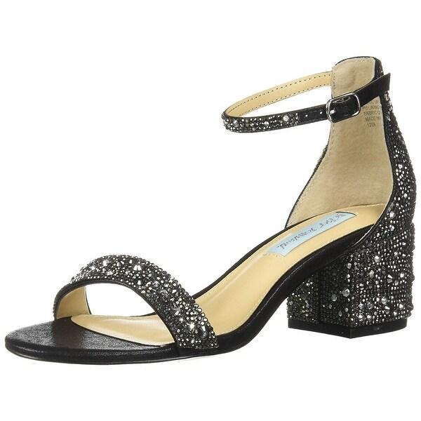 Betsey Johnson Blue Sb-andi Heeled Sandal - Save 13% - Lyst