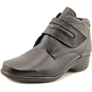 Martino London W Square Toe Leather Bootie